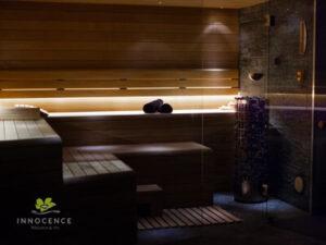 sauna sucha wnetrze strefa wellness